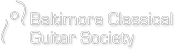 Baltimore Classical Guitar Society Logo